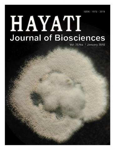 HAYATI Journal of Biosciences: 25 (1)