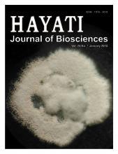 HAYATI Journal of Biosciences: 25 (1)